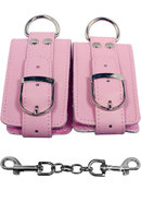 Strapped Plush Restraints - Pink