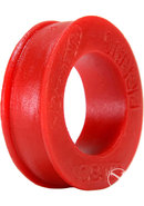 Oxballs Pig Ring Silicone Cock Ring - Red