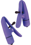 Nipple Play Nipplettes Vibrating Nipple Clamps - Purple